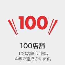 100店舗は目標。4年で達成させます。